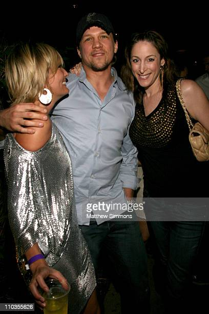 Angie Banicki Marc Blucas and Rachel Shapiro attend a birthday party for Angie Banicki and JJ Banicki at the Tropicana Bar at the Roosevelt Hotel on...