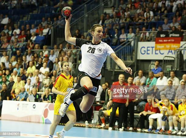 Angie Birgit Geschke Einzelbild Aktion BR Deutschland DHB Laenderspiel Länderspiel EM Qualifikation Europmeisterschaft Nationalmannschaft Sport...