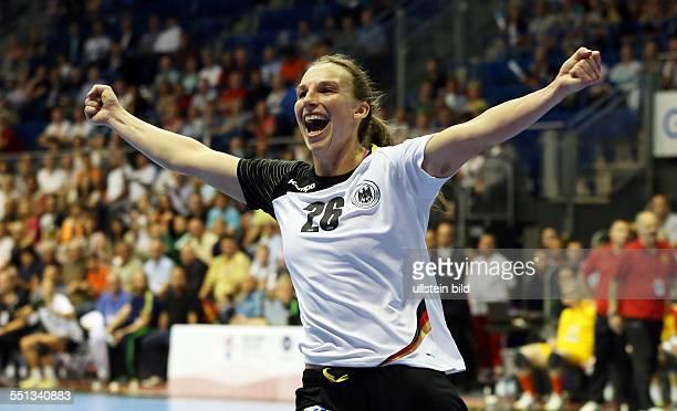 Angie Birgit Geschke Einzelbild Aktion Jubel Freude Emotion BR Deutschland DHB Laenderspiel Länderspiel EM Qualifikation Europmeisterschaft...