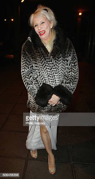 Angie Bowie appears on the Ray D'Arcy Show on January 23 2016 in Dublin Ireland