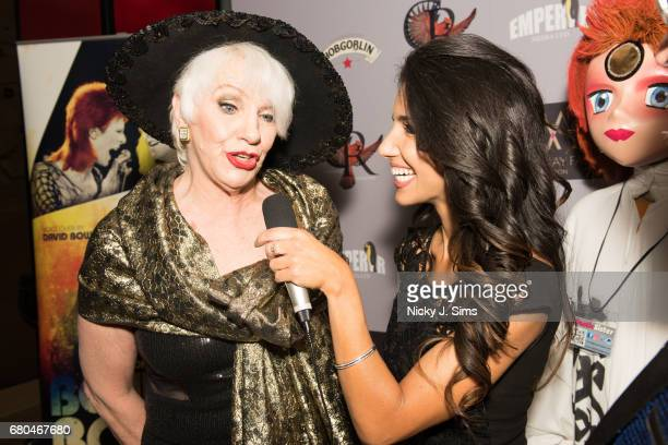 Angie Bowie attends the UK Premiere of Jon Brewer's 'BESIDE BOWIE The Mick Ronson Story' at The Mayfair Hotel on May 08 2017 in London England
