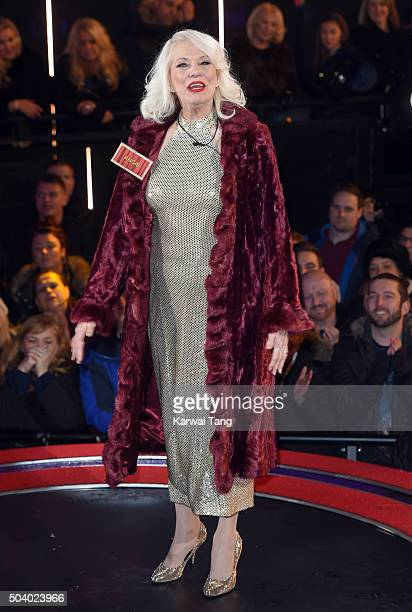 Angie Bowie enters the Celebrity Big Brother House at Elstree Studios on January 5 2016 in Borehamwood England