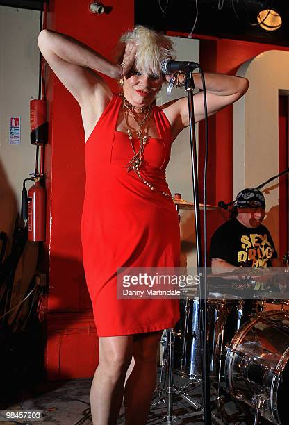 Angie Bowie performs at The 100 Club on April 14, 2010 in London, England.