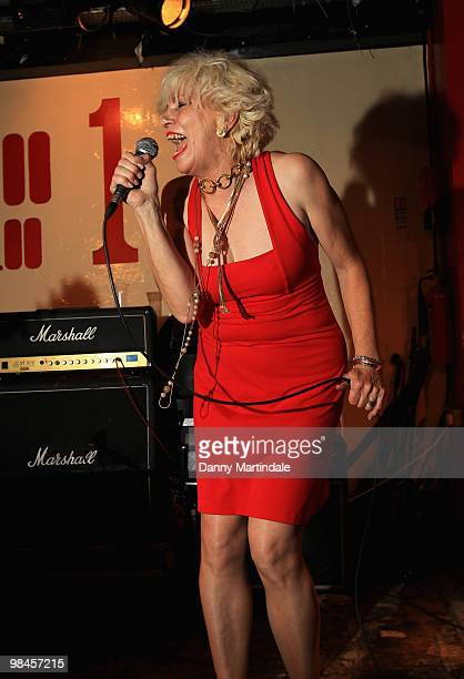 Angie Bowie performs at The 100 Club on April 14 2010 in London England