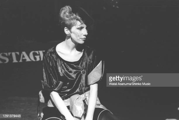 Angie Bowie performs on the BBC TV show 'The Old Grey Whistle Test', London, 8th December 1982.