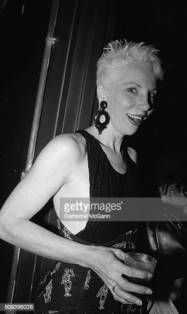Angie Bowie poses for a photo in December 1990 in New York City New York