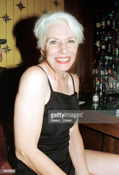Angie Bowie poses for a photograph during a party for her daughter Sasha''s 21st birthday July 23 2001 at The Carnegie Club in New York City