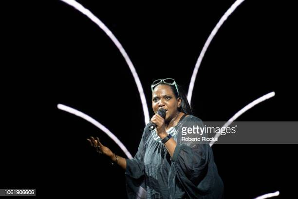 Angie Brown performs on stage during 'Radio Forth Awards 2018' at Usher Hall on November 15 2018 in Edinburgh Scotland