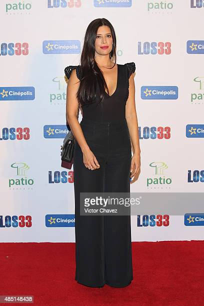 Angie Cepeda attends Los 33 Mexico City premiere at Cinepolis Patio Santa Fe on August 24 2015 in Mexico City Mexico