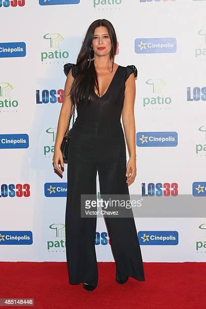"Angie Cepeda attends ""Los 33"" Mexico City premiere at Cinepolis Patio Santa Fe on August 24, 2015 in Mexico City, Mexico."