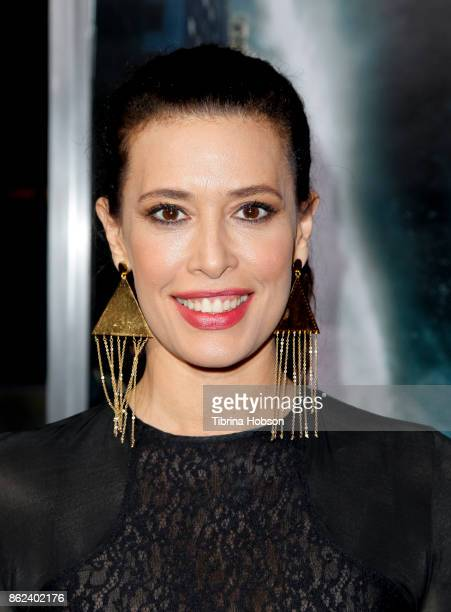 Angie Cepeda attends the premiere of Warner Bros Pictures 'Geostorm' at TCL Chinese Theatre on October 16 2017 in Hollywood California