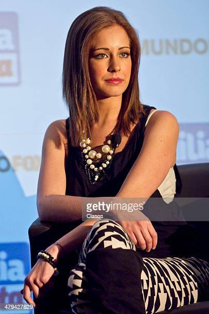 Angie Cepeda attends the press conference to announce the new Fox Series Familia en Venta on March 18 2014 in Mexico City Mexico