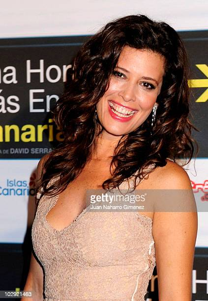 Angie Cepeda attends 'Una hora mas en Canarias' premiere at La Bombilla Cinema on July 15 2010 in Madrid Spain