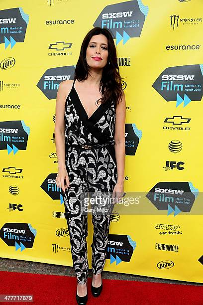 Angie Cepeda walks the red carpet for the premiere of her new film 'A Night In Old Mexico' at the Paramount Theater during the South By Southwest...