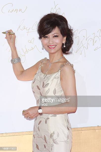 Angie Chiu arrives at the red carpet of the Miss Hong Kong Final on August 26 2012 in Hong Kong China