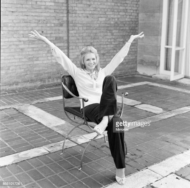 Angie Dickinson american film and television actress pictured on the veranda of her hotel in Knightsbridge London Friday 26th September 1980 Angie...