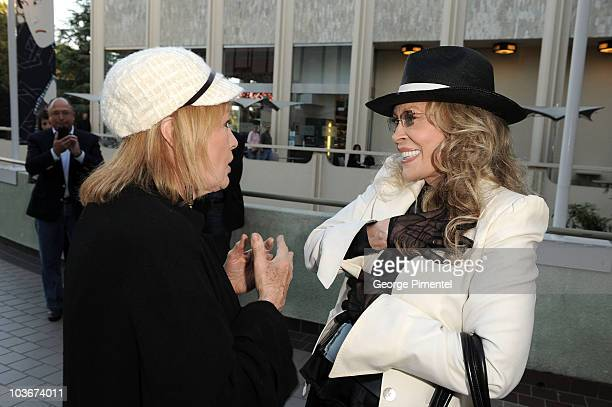 "Angie Dickinson and actress Faye Dunaway attend ""A Tribute to Norman Jewison"" presented by CFC and Film Independent at LACMA on April 17, 2009 in Los..."