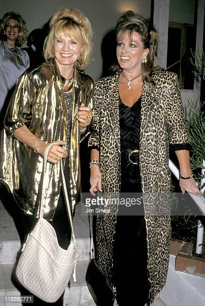 Angie Dickinson and Jackie Collins during Angie Dickinson and Jackie Collins Visit Spargo at Spago's in Los Angeles California United States