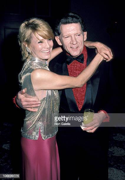 Angie Dickinson and Jerry Lee Lewis during Jerry Lee Lewis and Angie Dickinson Attends a Muscular Dystrophy Benefit in Beverly Hills on January 15...
