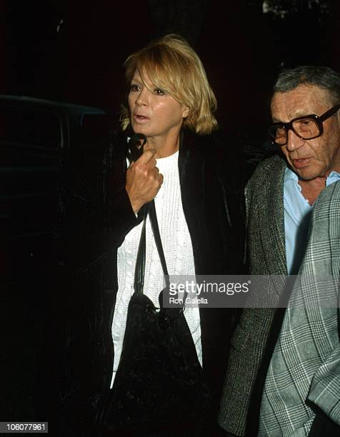Angie Dickinson and Sam Cahn during Angie Dickinson and Sam Cahn Sighting in New York City February 8 1986 in New York City New York United States