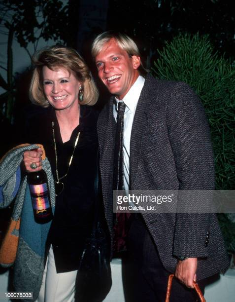 Angie Dickinson and Steve Lundquist during Angie Dickinson and Steve Lundquist Depart Spago's October 21 1986 at Spago's in Hollywood California...