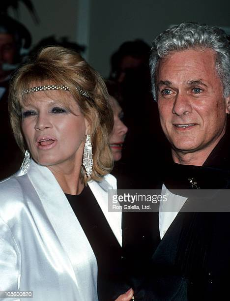 Angie Dickinson and Tony Curtis during AFI Lifetime Achievement Award to Billy Wilder at Beverly Hilton Hotel in Beverly Hills California United...