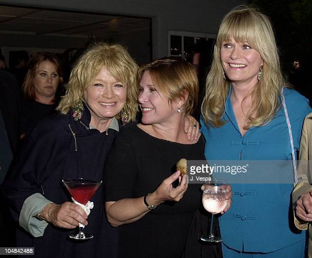 Angie Dickinson Carrie Fisher Valerie Perrine during Karma A Showing of 5 of India's Top Designers at Private Home in Beverly Hills California United...