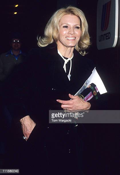 Angie Dickinson during Angie Dickinson at the 35th Annual Golden Globe Awards in 1978 in Beverly Hills United States