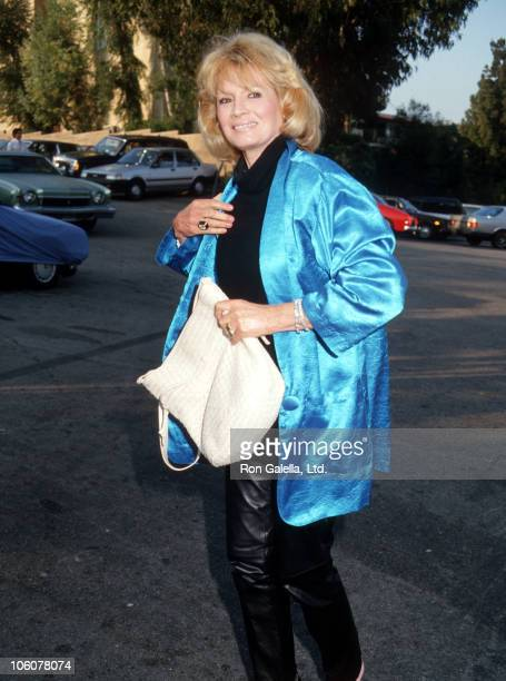 Angie Dickinson during Angie Dickinson Departs Spago Restaurant June 22 1987 at Spago Restaurant in Hollywood California United States