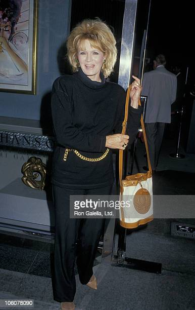 Angie Dickinson during Angie Dickinson Sighting at the Hanson Art Gallery September 9 1988 at Hanson Art Gallery in Beverly Hills California United...