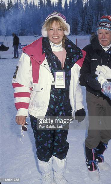 Angie Dickinson during Chateau Lake Louise Centennial Celebrity Sports Invitational at Chateau Lake Louise in Lake Louise Alberta Canada
