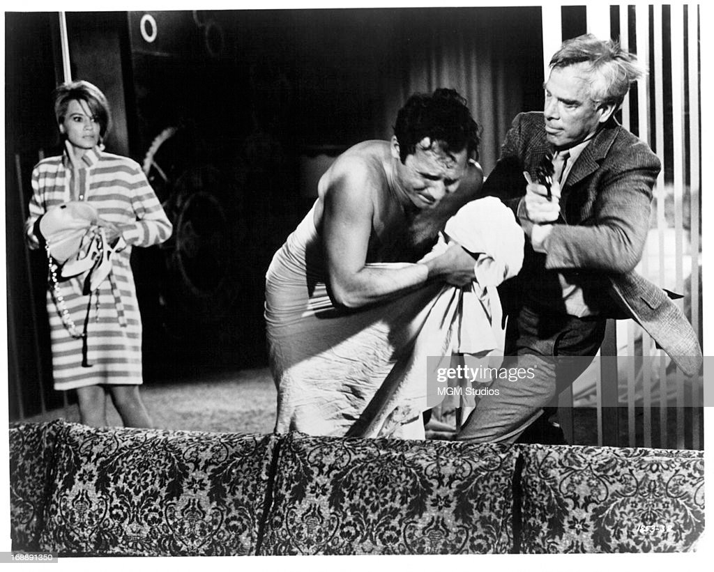Angie Dickinson Photos angie dickinson watches as john vernon and lee marvin fight