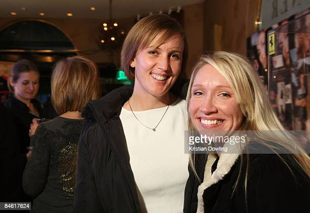 Angie Evans and Chari Evans attend the Aaron Olivarez Party at the The Film Lounge Media Center on January 20 2009 in Park City Utah