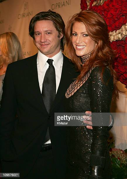 Angie Everhart and guest during Royal Birthday Ball for Sean 'P Diddy' Combs Red Carpet at Cipriani's in New York City New York United States