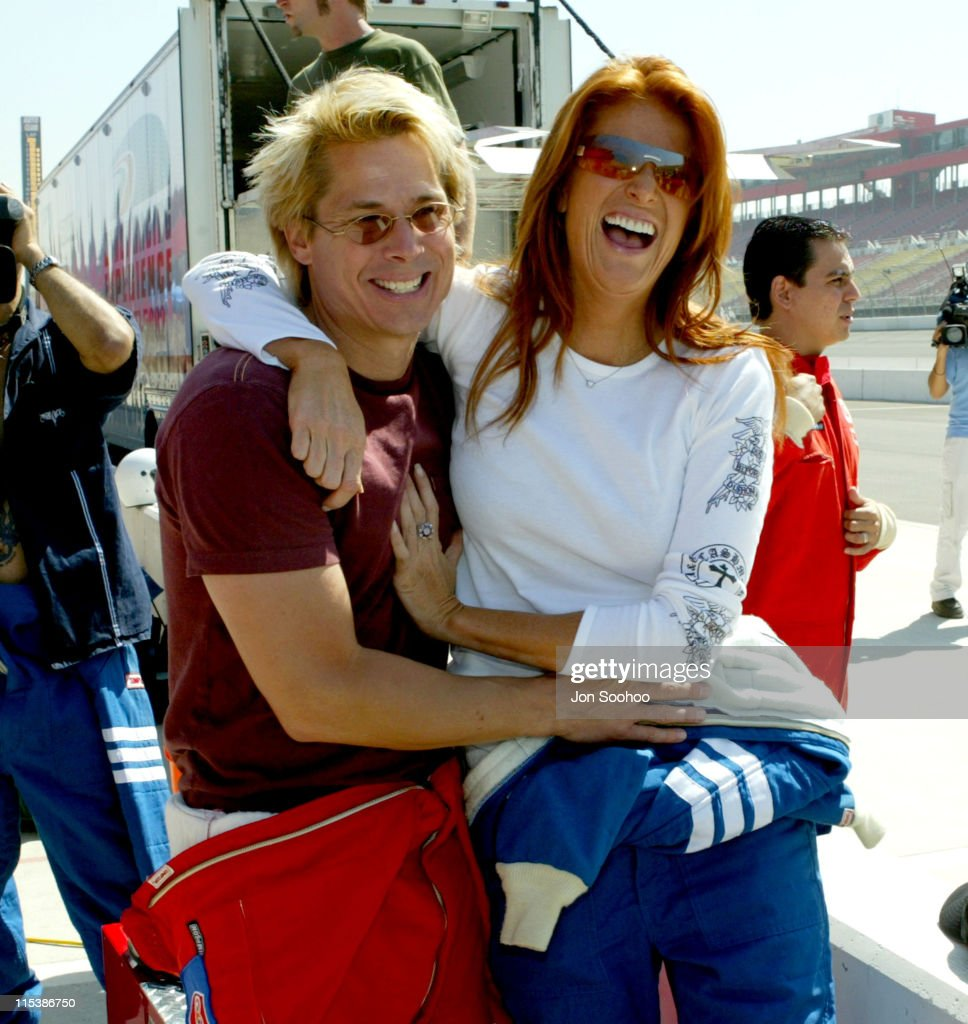 Model Angie Everhart at press day prior to Indy Racing League at the Weekend -