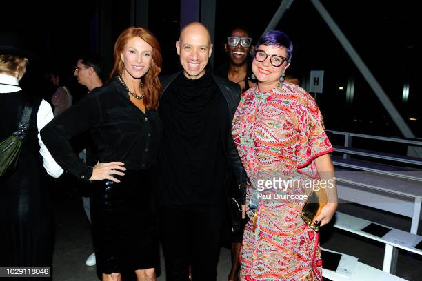 Angie Everhart and Robert Verdi attend Disney Villains x The Blonds NYFW Show during New York Fashion Week The Shows at Gallery I at Spring Studios...