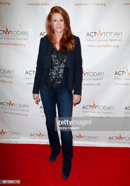 Angie Everhart attends the Facebook live event for ACT Today hosted by Corey Feldman and Courtney Feldman on May 24 2017 in Los Angeles California
