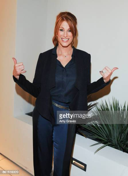 Angie Everhart attends the Last Chance For Animals 33rd Annual Celebrity Benefit Gala Arrivals at The Beverly Hilton Hotel on October 14 2017 in...