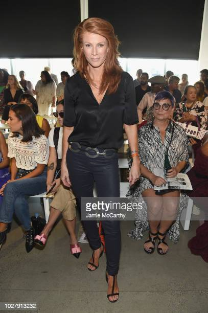 Angie Everhart attends the Tadashi Shoji front row during New York Fashion Week The Shows at Gallery I at Spring Studios on September 6 2018 in New...