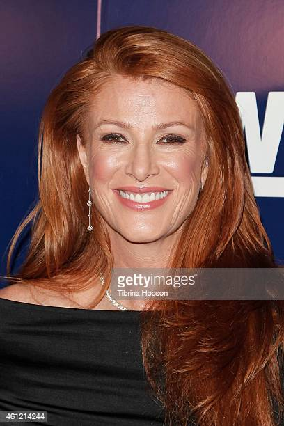 Angie Everhart attends WE TV's 'Marriage Boot Camp' reality stars & 'David Tutera's Celebrations' premiere party at 1 OAK on January 8, 2015 in West...