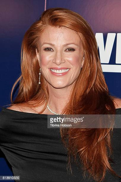 Angie Everhart attends WE TV's 'Marriage Boot Camp' reality stars 'David Tutera's Celebrations' premiere party at 1 OAK on January 8 2015 in West...