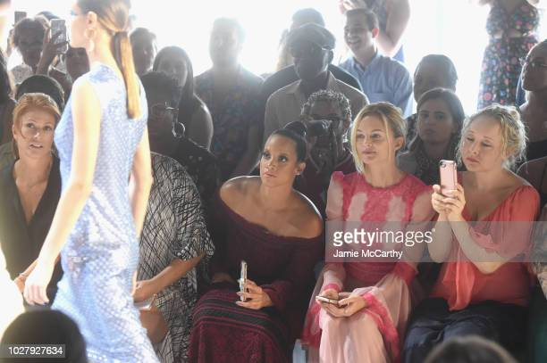 Angie Everhart Dascha Polanco and Heather Graham attend the Tadashi Shoji front row during New York Fashion Week The Shows at Gallery I at Spring...