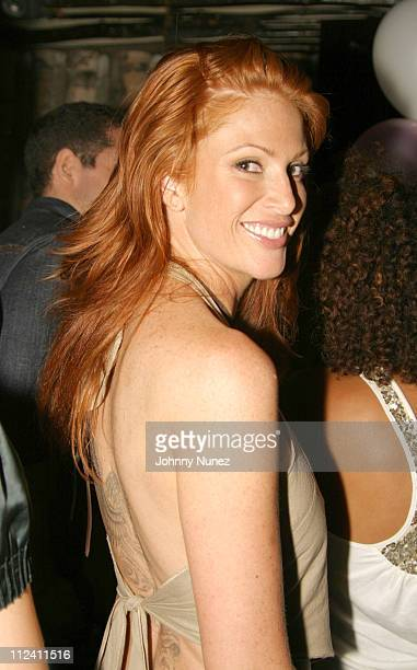 Angie Everhart during Ana Beatriz Barros Birthday Party May 28 2004 at Butter in New York City New York United States