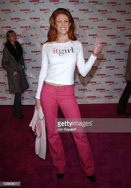 Angie Everhart during Glamour Magazine's Don't Party at Del Taco at Del Taco in Hollywood California United States