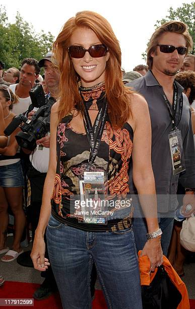 Angie Everhart during Indianapolis 500 - 90th Running - Race Day at Indianapolis Motor Speedway in Indianapolis, Indiana, United States.