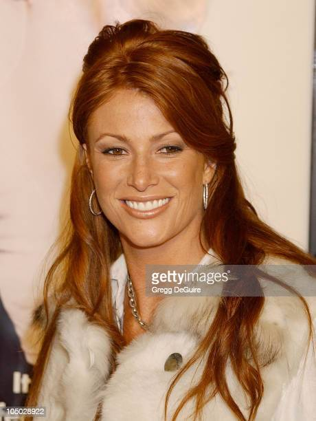 Angie Everhart during Just Married Los Angeles Premiere at Pacific Cinerama Dome in Hollywood California United States