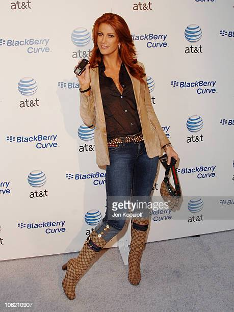 Angie Everhart during Launch Party for the new BlackBerry Curve from ATT Arrivals at Beverly Wilshire Hotel in Beverly Hills California United States