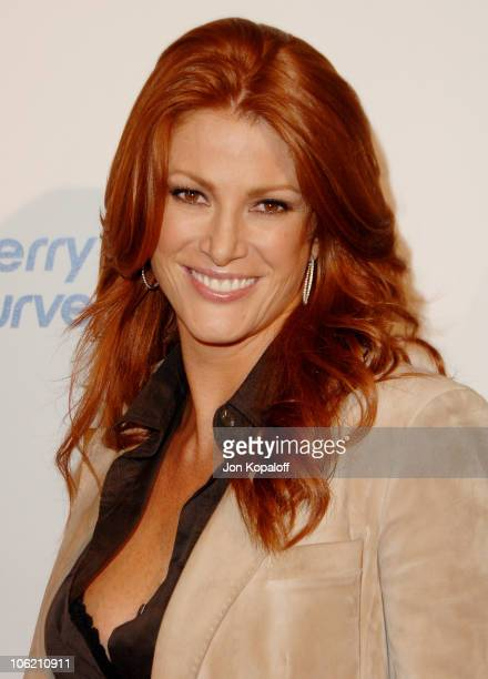 Angie Everhart during Launch Party for the new BlackBerry Curve from AT&T- Arrivals at Beverly Wilshire Hotel in Beverly Hills, California, United...