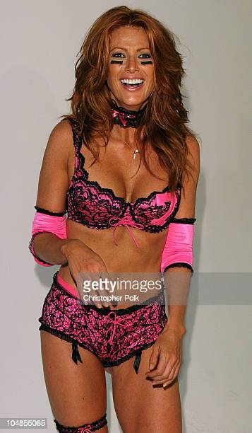 Angie Everhart during Lingerie Bowl 2004 at Quixote Studios in Hollywood, CA, United States.