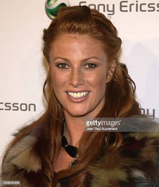 Angie Everhart during Sony Ericsson's Hollywood Premiere Party 2003 at The Palace in Hollywood California United States